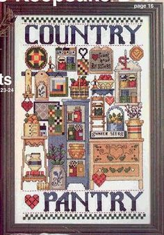 Schema punto croce Country Pantry 1/3