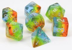 Aurora Dice (Yellow)   RPG Role Playing Game Dice Set