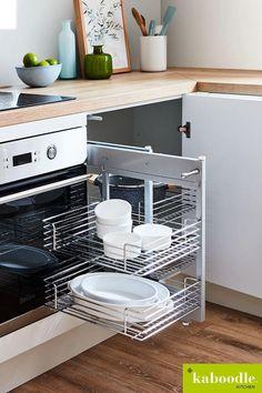 Kitchen Cabinet Organization, Kitchen Storage, Homemade Floor Cleaners, Kitchen Furniture, Furniture Design, Timber Shelves, Kitchen Remodel, Kitchen Reno, Tiny House On Wheels