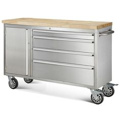 Yukon 63751 46 In 9 Drawer Mobile Workbench With Solid