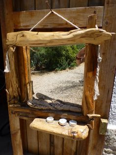 another mirror made from driftwood