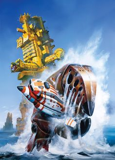The psychedelic realism of Chris Foss' alternate worlds