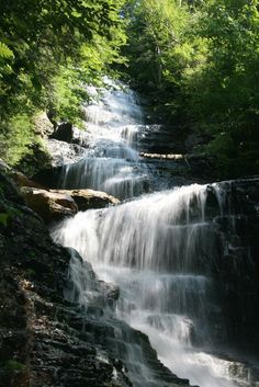 Lye Brook Falls is a great hike in the fall and spring.