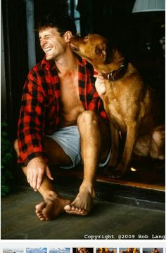 nothing more attractive than a man and his dog