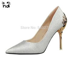 f6067b063d83 2016 New Sexy Mental Carved Heel Women Shoes Suede Red Bottom High Heels  Women Pumps Wedding Shoes Flower Metal Heel Stiletto