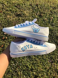 Army Shoes, Bts Clothing, Kawaii Shoes, Bts Inspired Outfits, Aesthetic Shoes, Hype Shoes, Kpop Merch, Painted Shoes, Korean Outfits