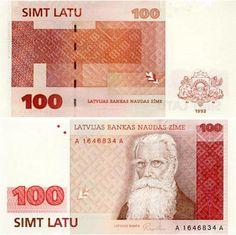 latvijas 100 latu Latvian Banknotes