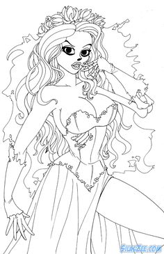Corpse Bride Coloring Pages Free Printable Coloring Pages - 700x1083 - jpeg