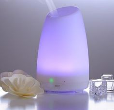 Mermaid Aromatherapy Essential Oil Diffuser-100ml Cool Mist Ultrasonic Aroma Humidifier with 7 Changing Color LED Lights, Waterless Auto Shut-off for Home Office Single Room(WHITE) ** Awesome product. Click the image : aromatherapy