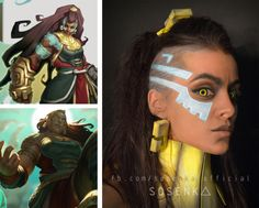 sosenka-official:      Illaoi' makeup - the newest champion from League! Made by me (facebook.com/sosenka.official)