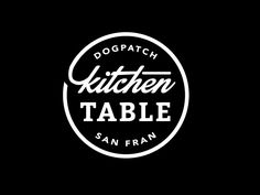 Kitchen Table Seal Logo by Amy Hood for Hoodzpah