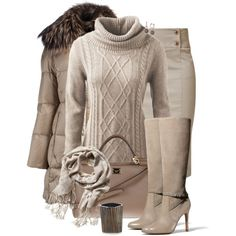 Beige Fringe, created by corenna-obrien on Polyvore