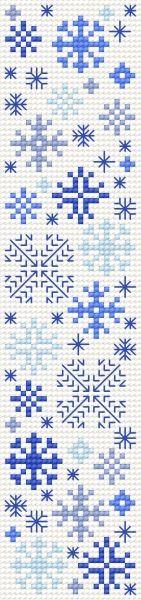 Free snowflake motifs chart
