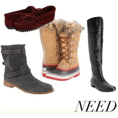 jillgg's good life (for less) | a style blog: winter shoes! {the 'need's and the 'want's}