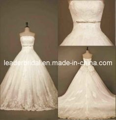 d2636760278 Strapless Eyelash Lace A-Line Formal Wedding Dresscs23 on Made-in-China.com.  lindabridal88 · wedding event dresses
