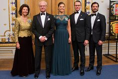 The Swedish Royal Family today held a dinner for members of parliament at the Royal Palace.22/10/2014