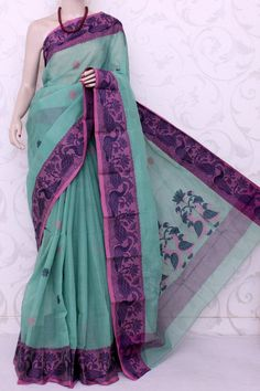 Bengal Handloom Tant Cotton Saree (With Blouse) 13068 , Buy Partywear Tant Sarees online, Pure Partywear Tant Sarees, Trendy Partywear Tant Sarees , , online shopping india, sarees , sweets, cameras, shoes, watches, appliances, apparel, sweets online in india | www.maanacreation.com