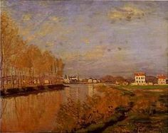 Seine at Argenteuil painting by Claude Monet in Vanilla Sky movie