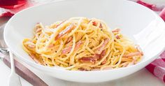 This super simple bacon and egg pasta dish deserves its place as a classic.