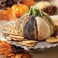 Halloween Snacks from Gooseberry Patch  | Hallowed Eve Cheese Pumpkin | MyRecipes.com