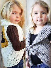 Mommy & Me Crochet Vests Pattern Download from AnniesCatalog.com. Order here: https://www.anniescatalog.com/detail.html?prod_id=113364