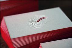 gilded letterpress business cards