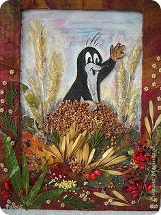 Картина панно рисунок Флористика Праздник осени Ассамбляж Поделки из природного материала в садик Крупа Листья Материал природный фото 1