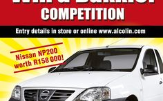 Alcolin Contractors Acrylic Promotion and Win A Bakkie Competition Competition, Promotion, Names, Store, Business, Shop, Storage