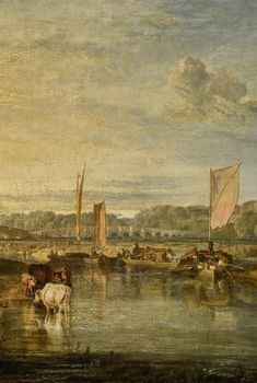 Turner: Walton Bridges on the Thames. Watercolor Landscape, Landscape Art, Turner Watercolors, Romanticism Artists, Turner Painting, Teaching Drawing, Joseph Mallord William Turner, London View, Royal Academy Of Arts