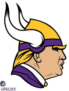 Minnesota Vikings Logo as remade by UPROXX , if Donald Trump was an NFL logo. I found this extremely funny!! He must be shouting..yooour fired!