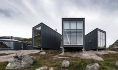 KOKO architects designed the Skåpet Mountain Lodges, a series of prefabricated weatherproof cabins in Soddatjørn, Norway that sit lightly on the land.