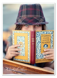 Love the peeking and the favorite book. Back to School | Wendy Kathleen's Photography