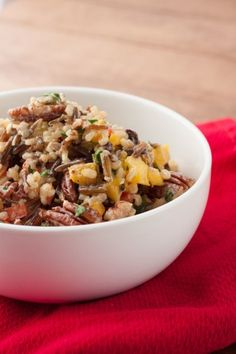 Wild Rice & Pecan Salad #glutenfree Healthful Pursuit | Healthful Pursuit