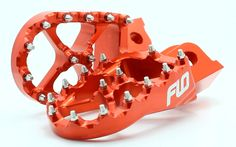 KTM ORANGE FOOT PEGS 50cc- 525 ALL MODELS 1998-2016 FOOTPEGS