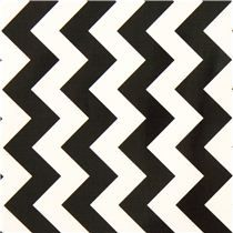 Chevron Muster Riley Blake Laminat Stoff schwarz weiß