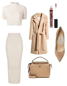 Untitled #192 by spicy-guap on Polyvore featuring polyvore fashion style Rachel Comey H&M Jimmy Choo Fendi NYX clothing