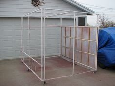 portable paint booth, pvc framework.