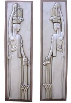 Custom Made Century Of Progress Art Deco, Machine Age, Sculptural Relief Wall Panels