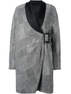 Ermanno Scervino объемное пальто с драпировкой