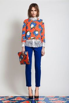 Fashion spring summer 2014 orange & blue