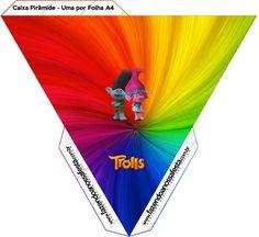 Caja pirámide Trolls