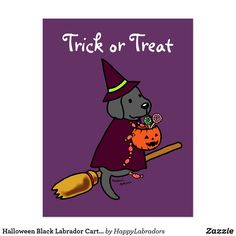 Shop Halloween Black Labrador Cartoon 1 Postcard created by HappyLabradors. Black Labrador, Trick Or Treat, Scooby Doo, Clip Art, Cartoon, Halloween, Fictional Characters, Black Labs, Cartoons