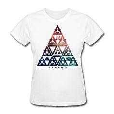 Legend Triforce Galaxy Womens T Shirt S-XXL from Much Needed Merch