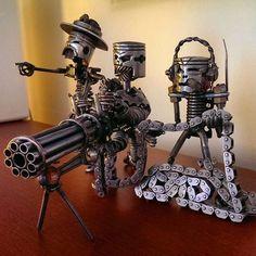 Pison head Army Mini Gun Crew