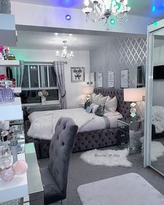 Your Interior Design Career Redecorate Bedroom, Dreamy Room, Girl Bedroom Decor, House Rooms, Grey Bedroom Decor, Aesthetic Bedroom, Fancy Bedroom, Room Inspiration Bedroom, Luxurious Bedrooms