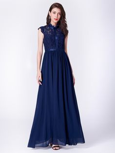 Ever-Pretty Womans Prom Party Dress Lace Long Cocktail Bridesmaid Dresses 07379 Vestidos Junior, Junior Dresses, Ball Dresses, Party Dresses, Cocktail Bridesmaid Dresses, Homecoming Dresses, Dress Prom, Cocktail Dresses, Military Ball Gowns