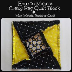 Looking for your next project? You're going to love How to Make a Crazy Rag Quilt Block by designer Build-a-Quilt.
