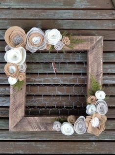 Image result for picture frame wreath ideas