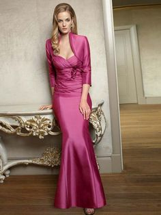 A-line Sweetheart Sleeveless Satin Mother of the Bride Dresses With Hand-Made Flower