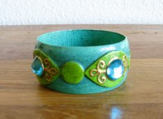 Fred Sexton Paper Mache Bangle-Mid Century-Mexico by MarketHome, $125.00